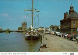 Shipping Postcard Quayside & Haven Bridge Great Yarmouth Norfolk Sailing Ship - Great Yarmouth