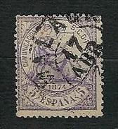 SPAGNA 1874 - Alegoria De La Justicia - 5 C.violetto - Yv:ES 142 - 1873-74 Reggenza