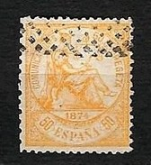 SPAGNA 1874 - Alegoria De La Justicia - 50 C. Arancio - Yv:ES 147 - 1873-74 Reggenza