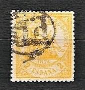 SPAGNA 1874 - Alegoria De La Justicia - 2 C. Gialo - Yv:ES 141 - 1873-74 Reggenza