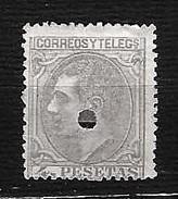 SPAGNA 1879 - Telegrafos - Alfonso XII - 4 P - Edi:ES 198T - 1875-1882 Regno: Alfonso XII