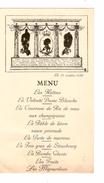 Menu Des Grenadiers Le 13/10/1938 PR4370 - Menus