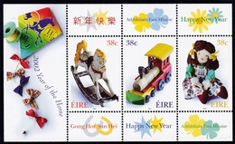 2002, Irland, 1407/09 Block 40, Kinderspielzeug. MNH **, - Blocs-feuillets