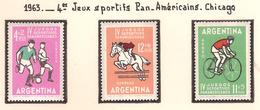 Argentine 1963, 4 ème Jeux Sportifs Pan. Américains, à Chicago ( Thématique Sport ) - Argentine