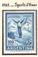 Argentine 1961, Sports D'hiver ( Thématique Sport ) - Argentine