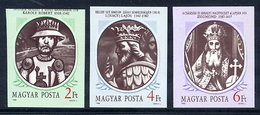 HUNGARY 1988 Hungarian Kings II Imperforate MNH / **.  Michel 3956-58B - Hungary