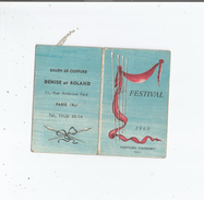 CARTE PARFUMEE CALENDRIER  ANCIENNE FESTIVAL DES PARFUMS CHERAMY PARIS - Perfume Cards