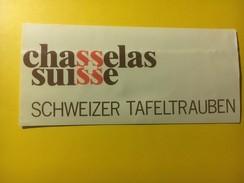 3823 -  Chasselas Suisse - Etiquettes