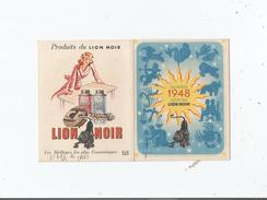 CARNET CALENDRIER PUBLICITAIRE LION NOIR 1948 - Pubblicitari