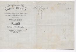 Saint-Eloy Les Mines (  63 )  -- Chambre Syndicale Des Ouvriers De St-Eloy  -- Vielle Mine -- 1914     --   BE - Documentos Históricos