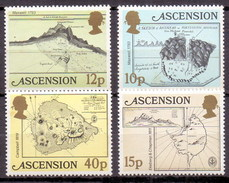 Ascension Islands 1981 Early Map, Ship, Geography (4v) MNH (M-01)