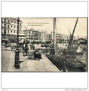 CDZTP4311CPA-LFTM27TPPES.Tarjeta Postal DE CADIZ.Edificios.barcos,pescadores,carro.PUERTO Y PLAZA DE ISABEL Ll.Cadiz. - Pesca