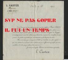 31 NOE - 1872 - L. CATEX Négociant à Noé - - France
