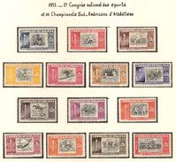 Bolovie 1951, 2 ème Congrès National Des Sports Et 5 ème Championnats Sud-Américains D'Athlétisme  ( Thématique Sport ) - Bolivia