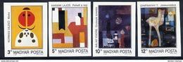 HUNGARY 1989 Modern Paintings Imperforate Set MNH / **.  Michel 4066-69B - Hungary