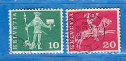 Svizzera °-1964 -Edifici Storici. Cat. Zum.356-358R/ Mich.697-699Rx   Vedi Descrizione. - Usati