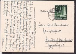 Postkarte Deutsches Reich 714  EF Stempel Gingen 1939 , Karl Kühnle Künstlerpostkarte - Deutschland