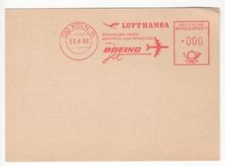 Lufthansa. Boeing. Frankfurt-Paris-Montréal-San Francisco. 23/6/1960. Carte Neuve - [7] République Fédérale