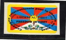 Label Cinderella Freedom In Tibet (t16) - Postzegels