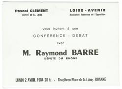 France // Conférence Et Débat Avec Raymond Barre - Partis Politiques & élections