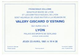 France // Réunion Avec Valery Giscard D'Estaing - Partis Politiques & élections