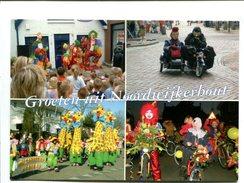 Cp - TINTIN CAPITAINE HADOCK - Carnaval Aux Pays Bas - Personnages Déguisés Clowns Girafes Side Car Tintin Hadock - Cómics
