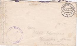 Feldpost WW2: Reserve Lazarett I In Litzmannstadt (now Lodz In Poland) P/m  Litzmannstadt 24.8.1942 - Letter Inside. Wor - Militaria