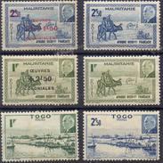 FRANCE Et COLONIES ! Timbres Ancien NEUFS Du Togo, Maurétanie Depuis 1944 - Mauritanie (1906-1944)