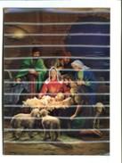 Cp - Carte En 3D  - La Naissance De L'enfant Jésus - Cartes Postales
