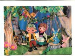 Cp - Carte En 3D  - 11 Enfants Dans La Forêt - Cartes Postales