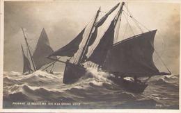 Prenant Le Deuxieme Ris A La Grand Voile - Barche