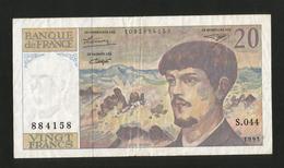 FRANCE - BANQUE De FRANCE - 20 Francs DEBUSSY (1993) - 1962-1997 ''Francs''
