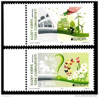 """TURKISH REP. OF NORTHERN CYPRUS/Zypern EUROPA 2016 """"Think Green"""" Set Of 2v** - Europa-CEPT"""
