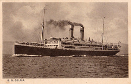 """ROYAL HOLLAND LLOYD : PAQUEBOT : S. S. """"GELRIA"""" - ANNÉE ~ 1920 - '30 (v-871) - Steamers"""
