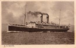 "ROYAL HOLLAND LLOYD : PAQUEBOT : S. S. ""GELRIA"" - ANNÉE ~ 1920 - '30 (v-871) - Piroscafi"