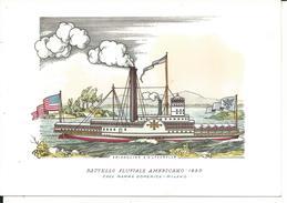 COS029 - CART. NAVI - BATTELLO FLUVIALE AMERICANO - 1890 -  F.G. NON VIAGG - Barche