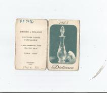 CARTE PARFUMEE CALENDRIER  DEDICACE DE CHERAMY PARIS 1968 - Perfume Cards