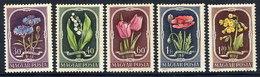 HUNGARY 1951 Flowers MNH / **.  Michel 1208-12 - Hungary
