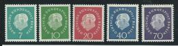 ALLEMAGNE-RFA: **, N°173 à 177(réf: Yvert Et Tellier), TB - [7] Federal Republic