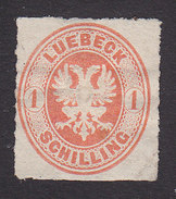 Lubeck, Scott #9a, Mint No Gum, Coat Of Arms, Issued 1863 - Lubeck