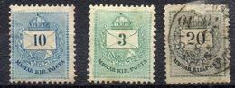 HONGRIE ! Timbres Anciens De 1874 N°17A Et 1881 NEUFS N°19A Et 21A Retouchés - Hongrie