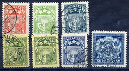LATVIA 1929 Arms Definitives With Both 10 S. Used.   Michel 171-76 + 174b - Latvia