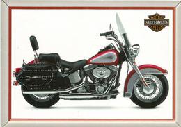 Harley-Davidson Classic, Carte Postale Ceska  Adressée ANDORRA, Avec Timbre à Date Arrivée - Moto