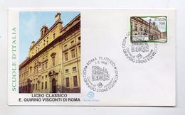 Italia - 1988 - Busta FDC - Scuole D'Italia - Liceo Classico E. Quirino Visconti  - Con Doppio Annullo Roma - (FDC4046) - FDC
