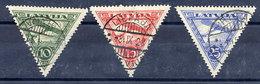 LATVIA 1928 Airmail Definitives  Used.   Michel 129-31 - Latvia