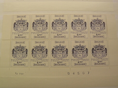 1977 BELGIQUE 1856 Bloc Neufe De 10 Timbre Datee - 20 % De La Faciale TTBE - Libretti 1962-....