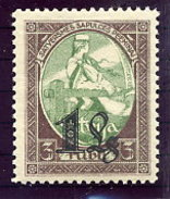 LATVIA 1927 1 L. Surcharge On 3 R. LHM/*.   Michel 116 - Latvia