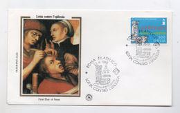 Italia - 1988 - Busta FDC - Medicina - Lotta Contro L' Epilessia  - Con Doppio Annullo Roma - (FDC4047) - FDC