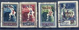 LATVIA 1920-21 Surcharges  On Liberation Issue Used.   Michel 60-63 - Latvia