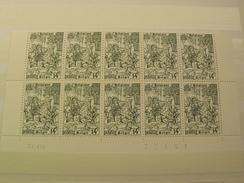 1977 BELGIQUE 1859 Bloc Neufe De 10 Timbre Datee -20 % De La Faciale TTBE - Libretti 1962-....